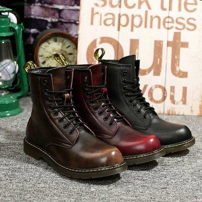 【時尚先生男裝】高幫1460馬丁靴男大碼英倫時尚風情侶短靴真皮靴子圓頭潮流機車鞋MS080