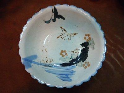 @阿布的店@台灣早期手繪倦鳥歸巣碗公-請參考臺灣老碗盤.