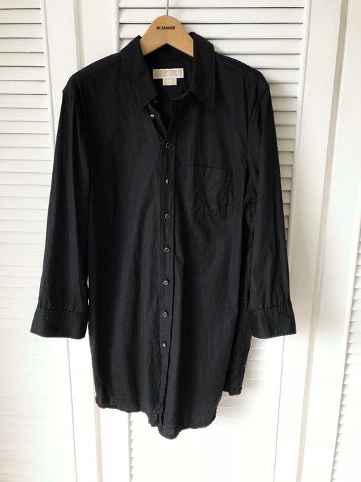 MICHAEL KORS 黑色boyfriend寬鬆版襯衫MK鈕扣