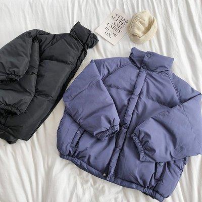 【柒姐姐】店主自留冬季超厚實肩連袖保暖立領寬松顯瘦面包服棉衣外套