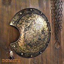 仿古手工鐵藝裝飾盾牌影視道具古羅馬盔甲武士盾牌裝飾品