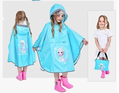 •*~ 辣媽咪衣飾小舖 ~*•❤童裝系列❤A970137兒童寶寶男女童學生卡通圖案防滑雨靴--斗蓬式冰雪奇緣