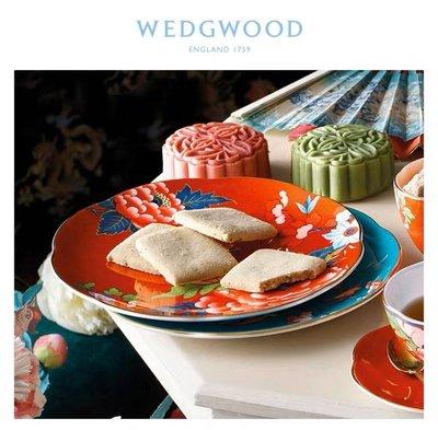 ~誠萍~ 英國Wedgwood 嫣红牡丹系列餐盤四件套 骨瓷 英國瓷器 裝飾盤 下午茶 直購價$2490