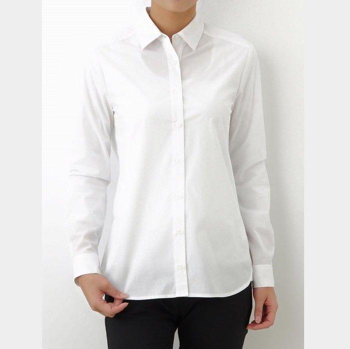 ☆注目の日本百貨公司品牌ELLE  秋冬新款白色長袖襯衫☆