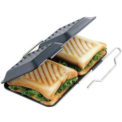 [霜兔小舖]日本代購 日本製 下村企販 方格 熱壓吐司烤盤   三明治烤盤