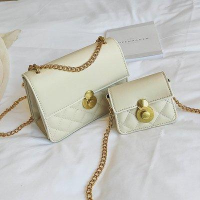 衣萊時尚-熱賣款 上新質感菱格鏈條包包...