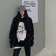 FQ3韓國專櫃連帽衛衣外套女秋冬加絨加厚假二件寬松正韓ins潮中長款長袖上衣