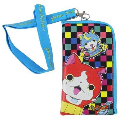 【卡漫迷】 妖怪手錶 手機袋 藍 ㊣版 L型 零錢包 MP3袋 票卡包 悠遊卡 i phone 7 Plus 收納袋