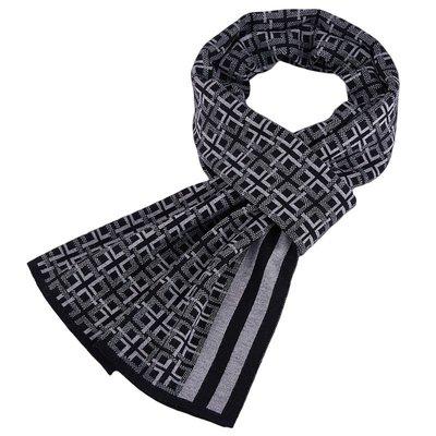 圍巾 針織披肩-羊毛英倫格紋提花男配件3色73wi24[獨家進口][米蘭精品]