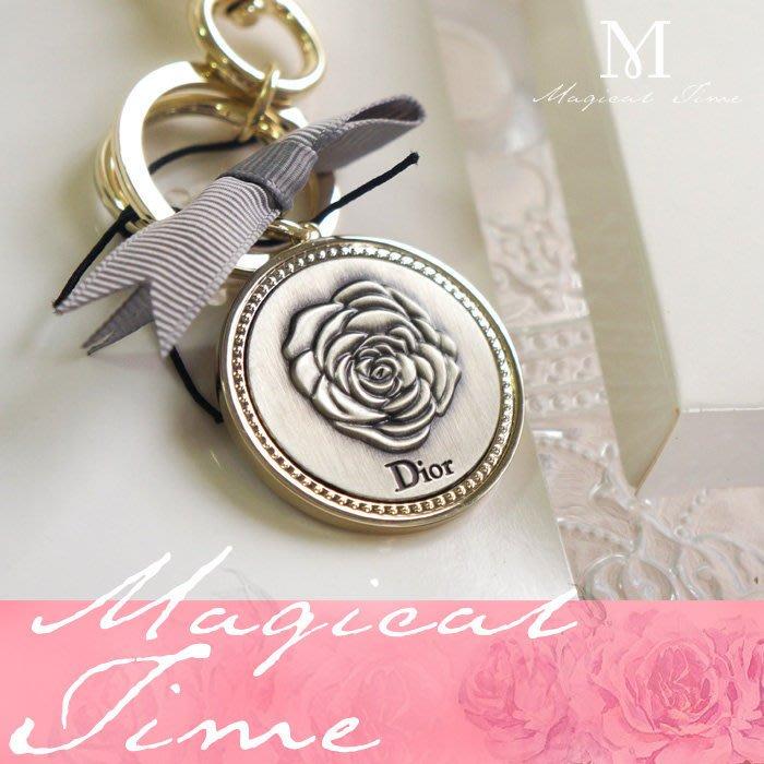 【∮魔法時光∮】DIOR 吊飾/鑰匙圈/精品鑰匙環(掛包包) 含原裝蝴蝶結禮盒 蝴蝶結綁帶提袋