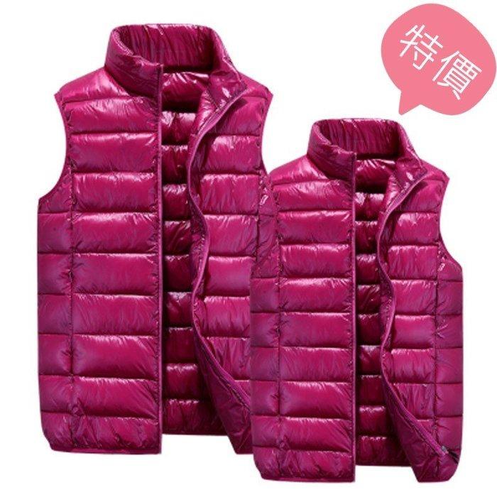 東大門平價鋪   情侶羽絨棉馬甲,男大碼輕薄款背心坎肩女修身馬夾外套