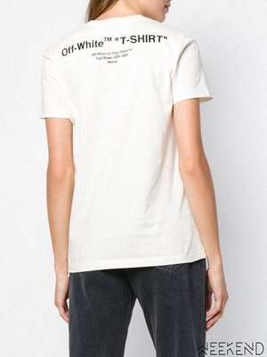 【WEEKEND】 OFF WHITE Quote T-Shirt 短袖 上衣 T恤 白色 18秋冬