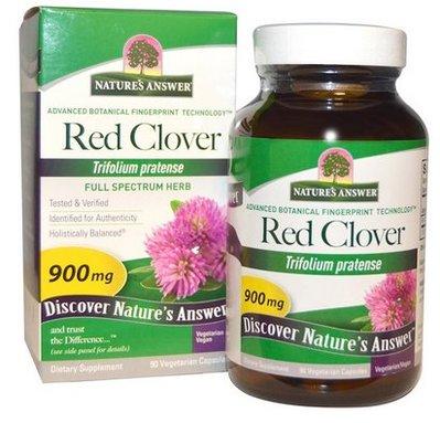 【美國原裝預購】Nature's Answer 紅三葉草 900mg,90粒素食膠囊