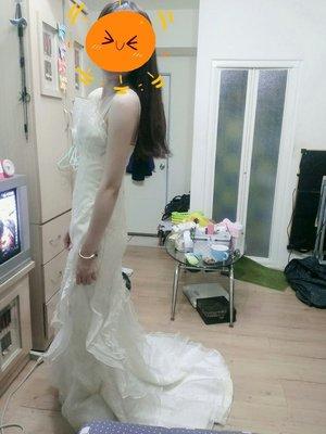 長禮服、宴客服、伴娘服-香檳色系白紗款