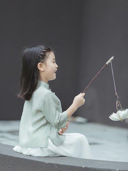 西子問女童漢服秋寶寶古裝襦裙中國風兒童唐裝小孩童裝民國風套裝