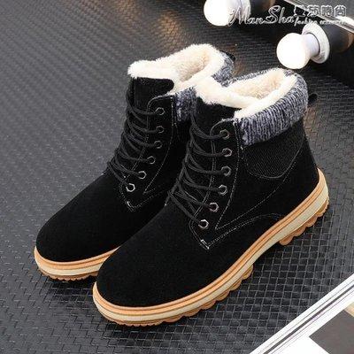 馬丁靴雪地靴男冬季保暖加絨新款中筒馬丁靴棉靴東北加厚男士棉