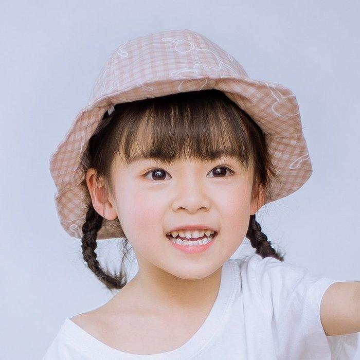 兒童帽 子春秋 可愛女 寶寶遮 陽帽3 韓版夏 季薄款 2-7 歲女童 防曬漁 夫帽 帽子 防曬帽  兒童帽子 太陽帽 正韓