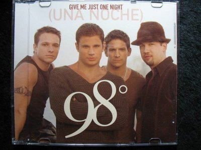 98 Degrees - Give Me Just One Night - 2000年環球版 -9成新 - 81元起標