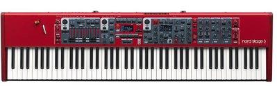 【搖滾鍵盤】Nord Stage 3 88 電鋼琴合成器 * 總代理保固
