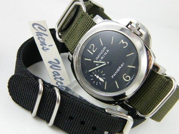 【錶帶家】尼龍錶帶加長版帆布錶帶有軍事風格 24mm 代用PANERAI 沛納海