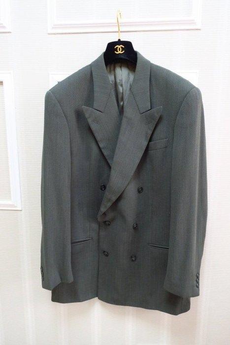 *Beauty*CERRUTI 1881綠色雙排扣西裝外套 52號