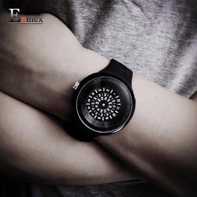手錶 隱藏時間密碼層疊數字轉盤個性炫酷創意手錶
