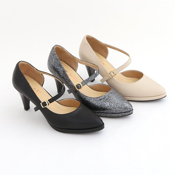 尖頭鞋 高跟鞋 瑪麗珍鞋 氣質典雅素面腳背繫帶真皮跟鞋 上班鞋 MIT台灣製造手工鞋 丹妮鞋屋