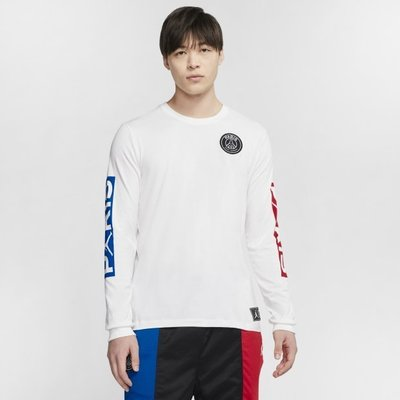 Nike Jordan 巴黎聖日耳曼 薄 長t 運動長袖 男生 BQ8383-101 白