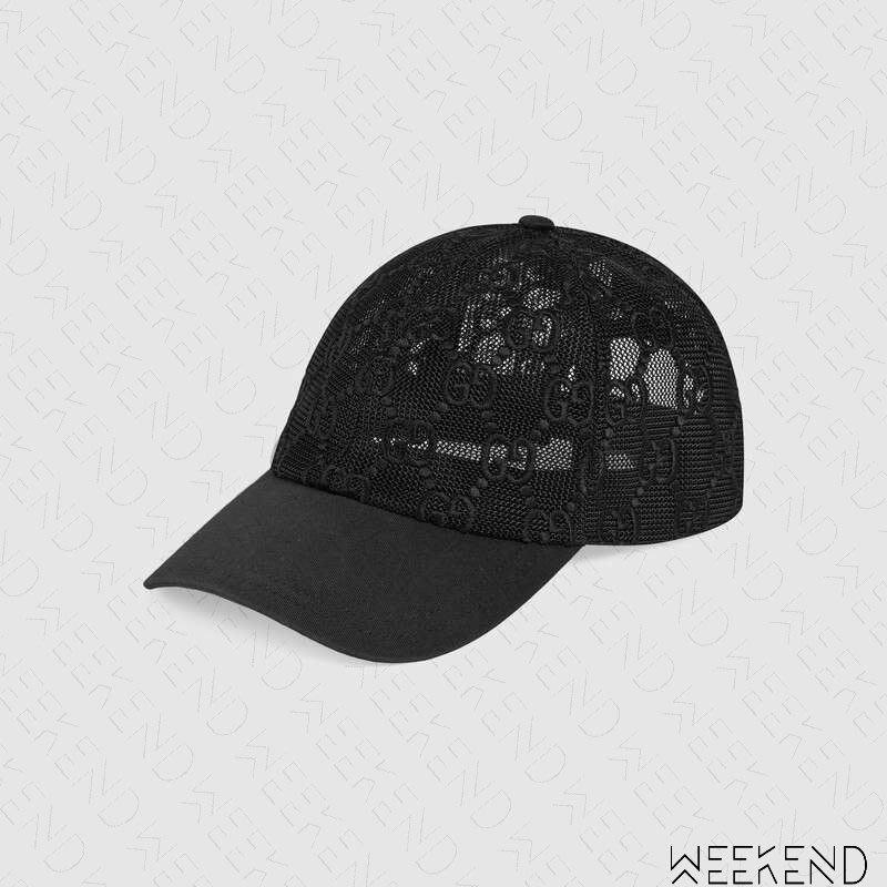 【WEEKEND】 GUCCI GG 刺繡 網帽 鴨舌帽 棒球帽 帽子 黑色 19秋冬 579155