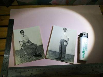 銘馨易拍重生網 PSS82 早期 民國60年代 文藝青年 超人帥哥老照  保存如圖 2張ㄧ標(珍藏回憶) 讓藏