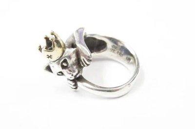 天然真品a貨翡翠專櫃蓮魚山 x DEAL TEARS 古埃及 波斯の貓咪戒指皇冠925純銀銀飾飾品