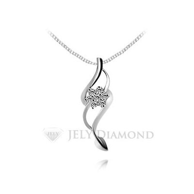 《JELY時尚館》【JELY Diamond】春光花蜜---7顆組成21分真鑽石項鍊 §會員獨享回收交換優惠§