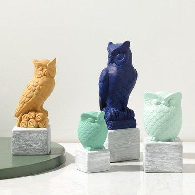 賓士印象~北歐現代簡約創意客廳電視柜酒柜裝飾工藝品貓頭鷹擺件家居裝飾品