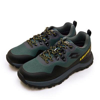 利卡夢鞋園–LOTTO 專業防水郊山戶外越野跑鞋--FALCO隼系列--灰綠黑--2555--男