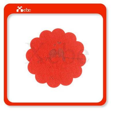 創意婚禮小物 高質感羊毛氈杯墊 (紅色)