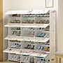 簡易小鞋架多功能塑料鞋櫃防塵多層省空間門...