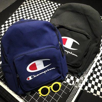 2015 日系 Champion 後背包 經典大Logo 草寫英文 深藍/黑雙色