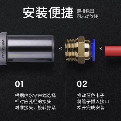 百城-數控U鉆配件快速鉆暴力鉆接頭車床轉內冷用水管氣管接頭M10M12M16#數控刀具