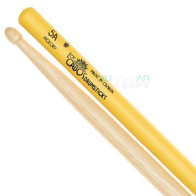 【老羊樂器店】開發票 Los Cabos 加拿大製 5A Yellow Jacket 黃色防滑 白胡桃木 爵士鼓鼓棒
