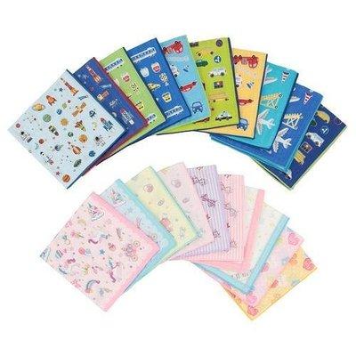 {阿猴達可達} 日本空運 兒童紗布手帕 幼童口水巾 方巾 幼兒洗澡巾 100%棉 日本製 期間限定10入裝 特別價格