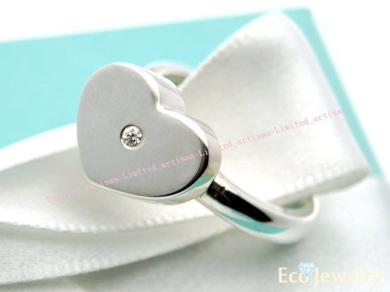 《Eco-jewelry》【Tiffany&Co】稀有款 偏心鑲鑽戒指 純銀925戒指~專櫃真品已送洗