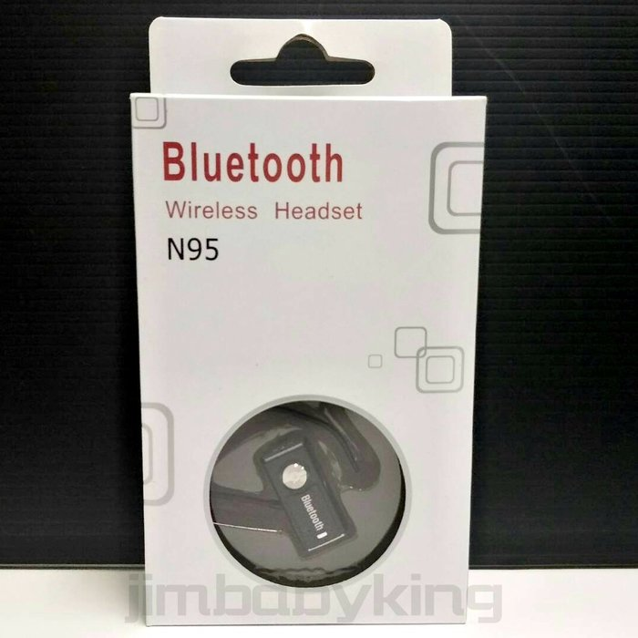 Bluetooth N95 迷你 無線 藍牙耳機 黑色 免持 單聲道 耳掛式 純一般通話語