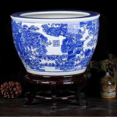 陶瓷魚缸清倉家用客廳金魚水缸烏龜缸碗蓮荷花睡蓮花盆T