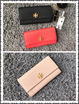 美國正品 TORY BURCH Kira envelope continental wallet 翻蓋小牛皮長夾