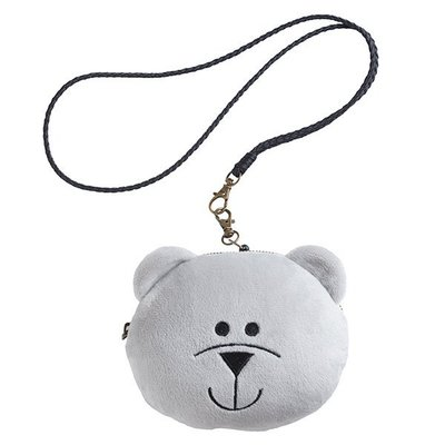 2018 星巴克 BEARISTA零錢證件掛牌, 小熊零錢包, 可放證件, 有吊繩