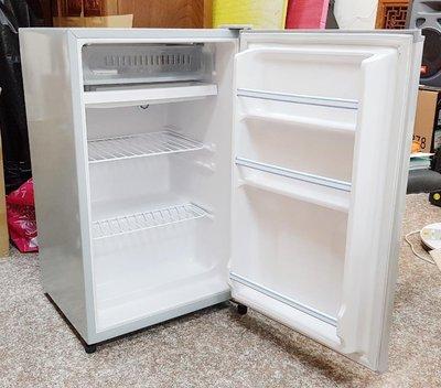 大同100公升環保省電鏡面鋼板單門小冰箱 (TR-100SS-S)  九成新