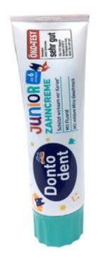 德國Donto dent 兒童牙膏 dm牙膏 6歲以上 微涼薄荷100ml   綠蓋6294