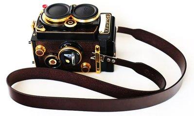 【悠悠山河】特價 精品 祿萊 Rolleiflex 2.8F 3.5E 3.5F相機寬背帶 意大利A級純頭層牛皮 剪刀腳