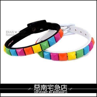 惡南宅急店【0062B】中性設計「NANA彩色卯丁風手環」對鍊(三色)單款區