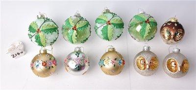 聖誕玻璃節慶婚慶店面櫥窗掛件玻璃裝飾用品彩繪玻璃造型球單組